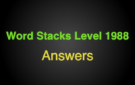 Word Stacks Level 1988 Answers