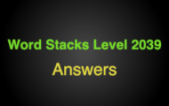 Word Stacks Level 2039 Answers
