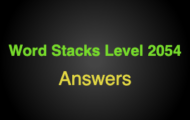 Word Stacks Level 2054 Answers