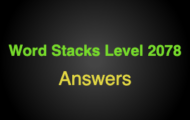 Word Stacks Level 2078 Answers