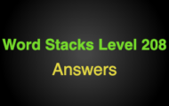 Word Stacks Level 208 Answers
