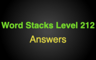 Word Stacks Level 212 Answers
