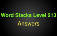 Word Stacks Level 213 Answers
