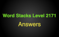 Word Stacks Level 2171 Answers