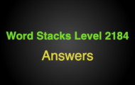 Word Stacks Level 2184 Answers