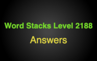 Word Stacks Level 2188 Answers