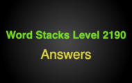Word Stacks Level 2190 Answers