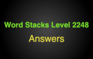 Word Stacks Level 2248 Answers