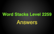 Word Stacks Level 2259 Answers