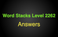 Word Stacks Level 2262 Answers
