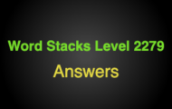 Word Stacks Level 2279 Answers