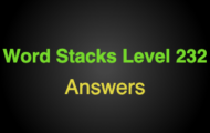 Word Stacks Level 232 Answers