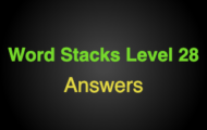 Word Stacks Level 128 Answers