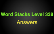 Word Stacks Level 338 Answers