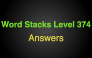 Word Stacks Level 374 Answers