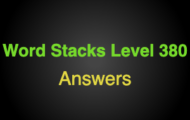 Word Stacks Level 380 Answers
