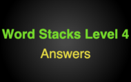 Word Stacks Level 104 Answers