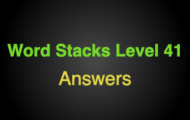 Word Stacks Level 41 Answers