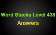 Word Stacks Level 438 Answers