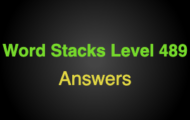 Word Stacks Level 489 Answers