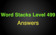 Word Stacks Level 499 Answers