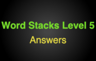 Word Stacks Level 105 Answers