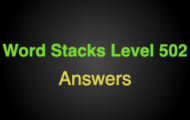Word Stacks Level 502 Answers