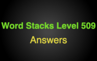 Word Stacks Level 509 Answers