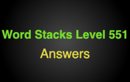 Word Stacks Level 551 Answers