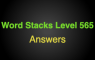 Word Stacks Level 565 Answers
