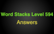Word Stacks Level 594 Answers