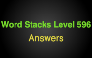Word Stacks Level 596 Answers