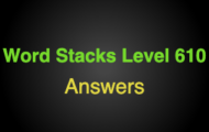 Word Stacks Level 610 Answers