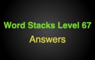 Word Stacks Level 67 Answers