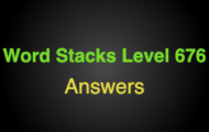 Word Stacks Level 676 Answers