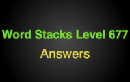 Word Stacks Level 677 Answers