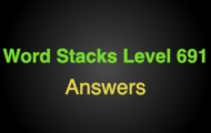 Word Stacks Level 691 Answers
