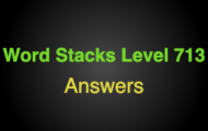 Word Stacks Level 713 Answers