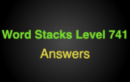 Word Stacks Level 741 Answers