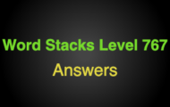 Word Stacks Level 767 Answers