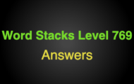 Word Stacks Level 769 Answers