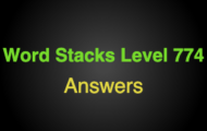 Word Stacks Level 774 Answers