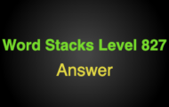 Word Stacks Level 827 Answers