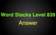 Word Stacks Level 839 Answers