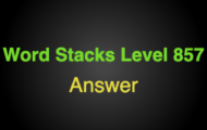 Word Stacks Level 857 Answers