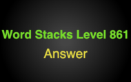 Word Stacks Level 861 Answers