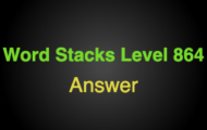 Word Stacks Level 864 Answers