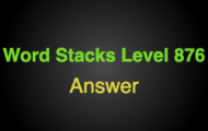 Word Stacks Level 876 Answers