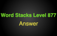 Word Stacks Level 877 Answers