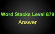 Word Stacks Level 879 Answers
